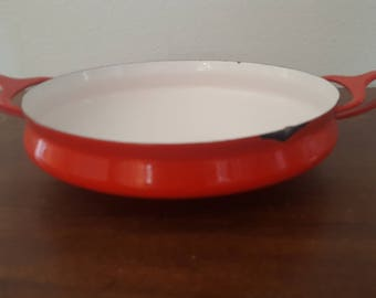 Small Red Dansk Kobenstyle Paella Pan