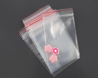 x 500 bag plastic zip 4x6cm (08 (A)