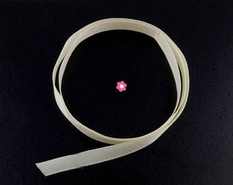 x2m ecru (38 (A) 6mm satin ribbon
