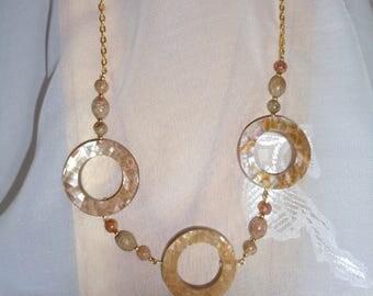 Shakti Jewelry Set-  Shell Necklace and Jasper Earring Set- Exotic Jewelry Set- Jasper Jewelry Set- Jasper Shell Necklace- Contemporary Set