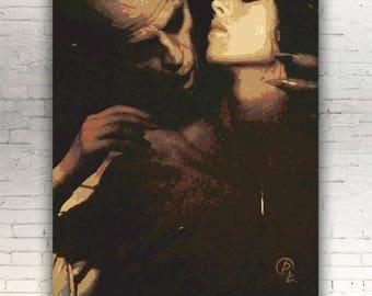 """Nosferatu - CANVAS - 16""""x12"""" - artwork print on cotton canvas - alternative movie poster horror Klaus Kinski Isabelle Adjani Werner Herzog"""