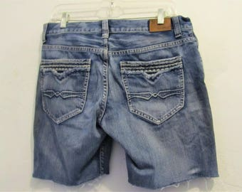 Men's GRUNGED Upcycled,Cut-off Denim STONER Shorts By Flypaper.32