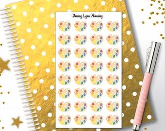 Artist Palette Planner Stickers