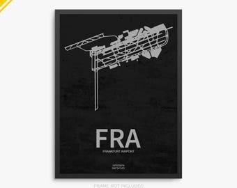 FRA Airport, Frankfurt Airport, Frankfurt Germany, FRA Airport Poster, Frankfurt Germany Airport, FRA Poster, Frankfurt Airport Poster