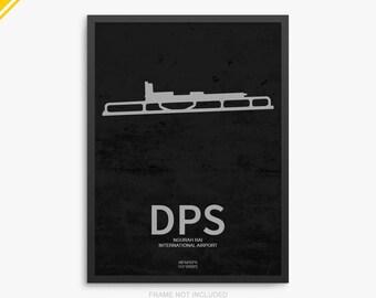 DPS Airport, Ngurah Rai International Airport, Bali Indonesia, DPS Airport Poster, Bali Airport, Denpasar, Bali Airport Poster, Indonesia