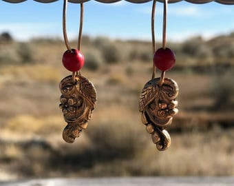 Bronze Bird earrings