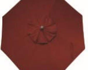 10 Foot Cantilever Off Set Octagon O'Bravia Umbrella - Model# HWUA619 - Free Shipping - AUBURN RED