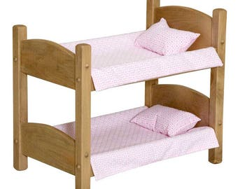 Doll Play House Bunk Bed for up to 18 inch Doll - Handmade - Real Wood Furniture - Amish Made in USA  Model# LT-006 - Free Shipping!