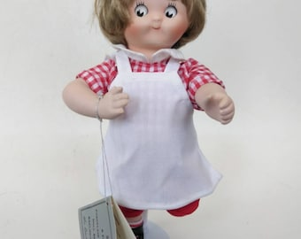 Vintage Solid Porcelain 1996 Campbell's Soup Lady Doll