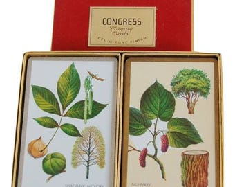 Vintage Double Deck Congress Playing Cards