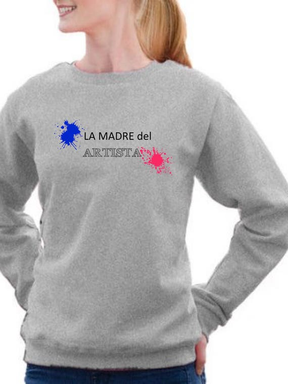 Round neck women sweater LA MADRE del ARTISTA