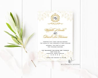 Regal Wedding Invitation -- SAMPLE