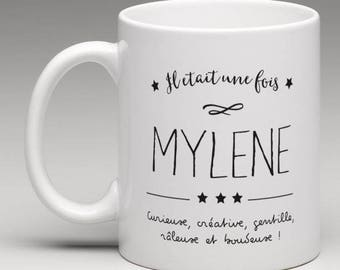 First name, personalized gift mug