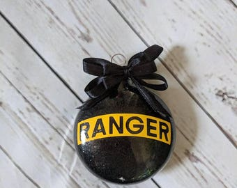 proud ranger/ Christmas ornament/ Army pride/ army gift idea/ military gift/ military Christmas/  military ornament/ ranger army/ ranger