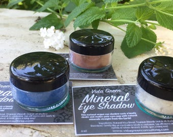 Natural Mineral Eye Shadow | Mineral Make up | Vegan Eye Shadow | Vegan Make up | Natural Mica | Eye Shadow | Gift for her | Vegan gift