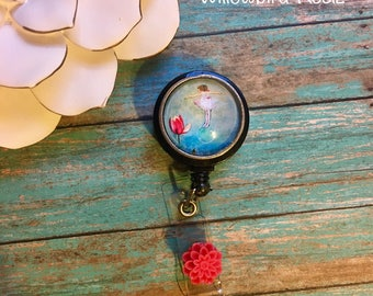 The Girl and The Tulip-Nurse Retractable ID Badge Reel/ RN Badge Holder/Doctor Badge Reel/Nurse Badge Holder/Nursing Student Gifts