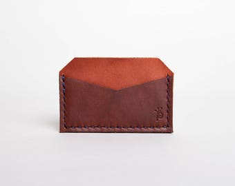 Leather Reverse Card Holder Wallet | Mahogany