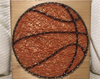 READY TO SHIP Basketball String Art (small)