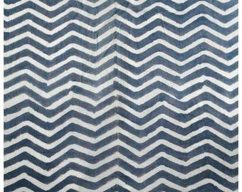 5 Yards Zig Zag Block Print Fabric, Indian Cotton Fabric, Printed Cotton Fabric, Cotton Printed Fabric, Printed Fabric, Block Print Fabric