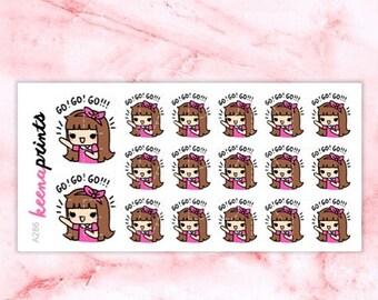 15% OFF A286 | Go stickers, keenachi motivation stickers, inspire stickers, happy stickers, motivated stickers, emotion stickers, eclp stick