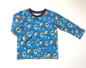 Rainbow baby clothes, 12 to 18 months, Long sleeve tops, Rainbow jars, Gender neutral, Warm, Custom, T shirt, Bright kidswear, In stock, Fun