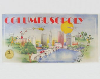 COLUMBUSOPOLY Board Game . Columbus Monopoly Game . Columbus Ohio 1990 Game . Finance Board Game . Real Estate Board Game