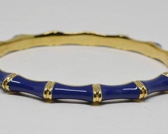 Charming Enamel Blue Color Bangle Bracelet