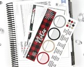 Let It Snow Monthly Notes Page Planner Kit | ~100 Stickers | Planner Stickers | For Erin Condren LifePlanner