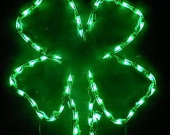 Springtime St Patrick's Day Shamrock Wireframe Outdoor Holiday Yard Decoration Commercial Quality