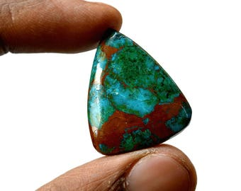 Chrysocolla 22.5 Cts AAA Quality Natural Gemstone Attractive Designer Triangle Shape Cabochon 28x23x4.5 MM R14379