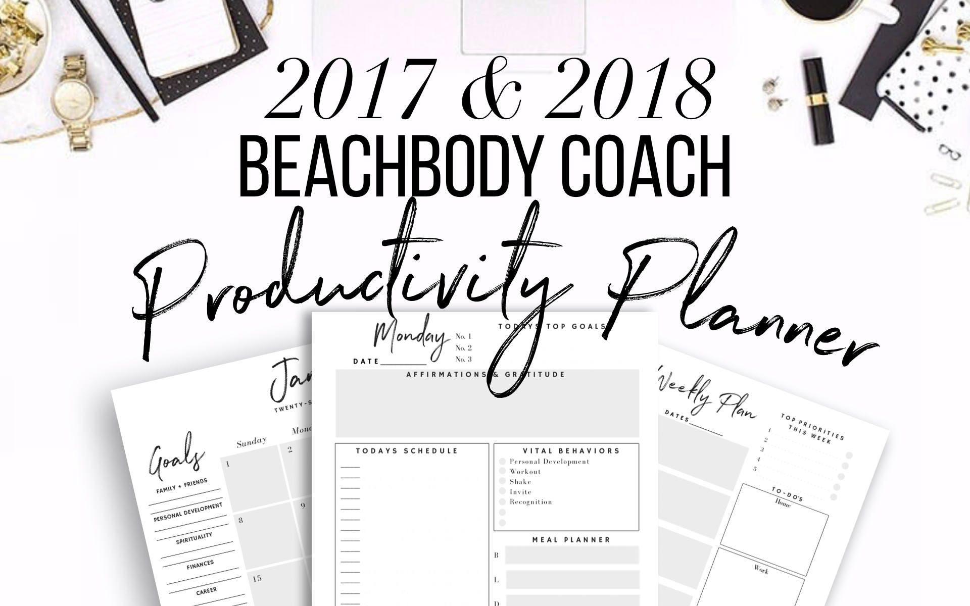 30 off 2017 2018 beachbody coach business planner