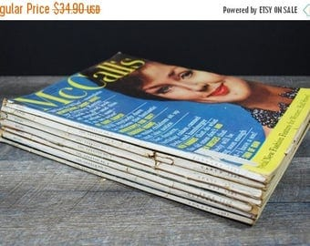 CLEARANCE SALE Vintage McCalls Magazine Collection / Mid Century Advertising and Marketing / Women's Health and Beauty / Retro Fashion / 196