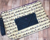 Knitting Project Bag-Cats in the Library