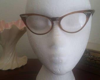 50s Cateye Reading Glasses Tortoise Frame Glasses.