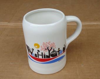 vintage washington Dc mug cup ceramic,Frank nofer 1977,state gift souvenir