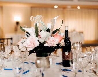 Rose Gold, Wedding table décor,  Gold centerpiece, Silk flowers, Quinceanera, bride bouquet, wedding centerpiece, sweet 16, baby shower