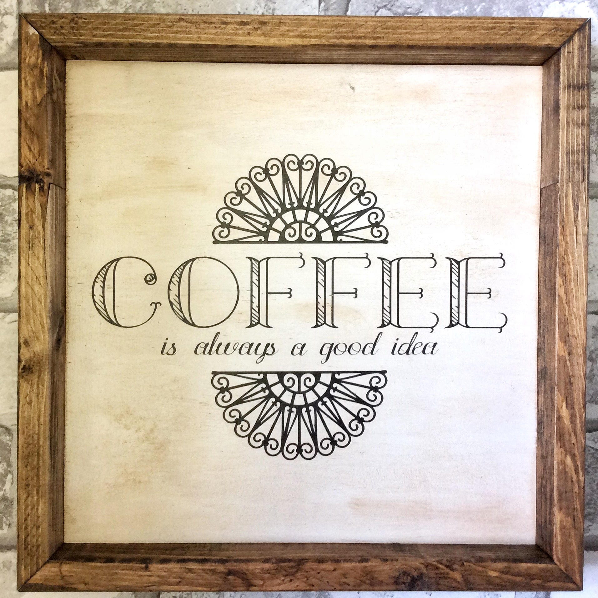 Coffee Sign/ Coffee Wall Decor, Coffee Decor, Wood Dign, Wooden Sign ...