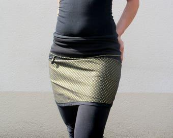 Flower of Life Gold & black skirt