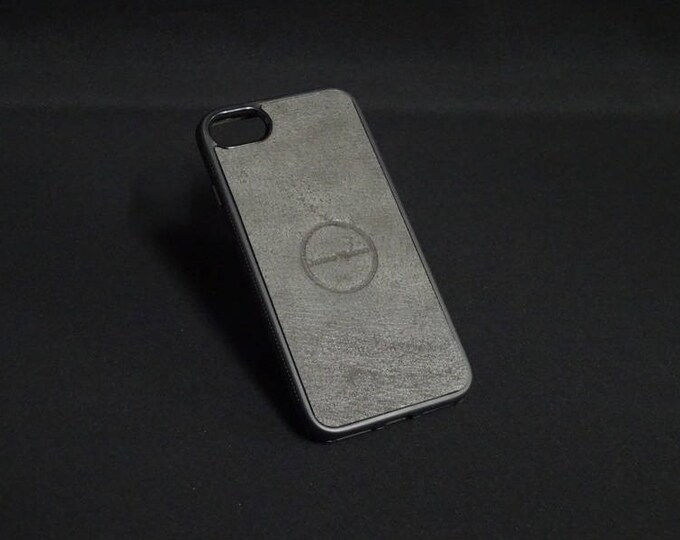 Apple iPhone 7 - Jimmy Case in Rustic Grey - Kangaroo leather - Handmade - James Watson