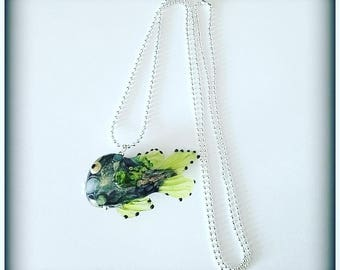 Necklace unique glass fish