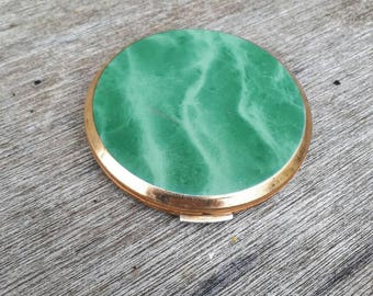 Green compact vintage
