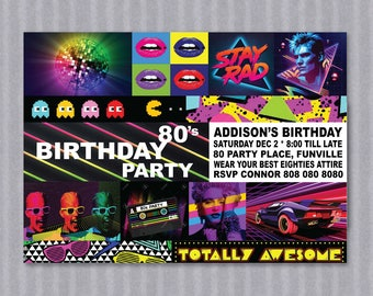 EIGHTIES Party Invite - ADULT