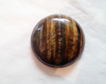 Round 26 mm - 20 331 Tiger eye cabochon