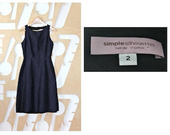 Designer Silk Dress Cocktail Sleeveless Summer dress Navy A line dress Natural Boho Preppy Ramie Reception Party dress Formal Festival
