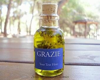 50 pcs Italian Style Olive Oil Favors (25ml/0.85oz), Olive Oil Wedding Favors, Olive Oil Baby Shower Favors, Olive Oil Bridal Shower Favors