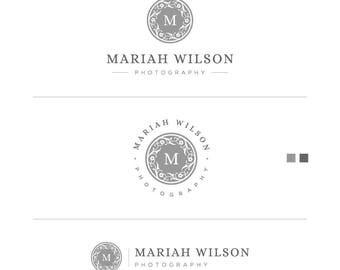 Mini Branding Kit, Branding Kit, Branding Set, Flower Logos, Silver Logo, Circle Logo, Small Business Logo, Business Stamp Logo, Seal Logo
