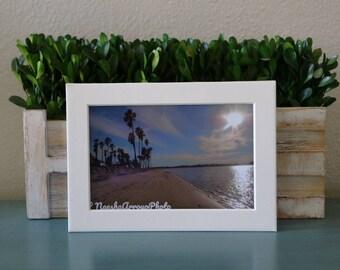 Print, Framed, Sunny Sandy Beach 4x6 Image Mission Bay San Diego,