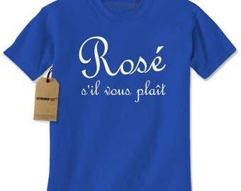 Rosé s'il vous plaît Wine Mens T-shirt