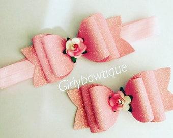 Big sis, little sis rose bow set
