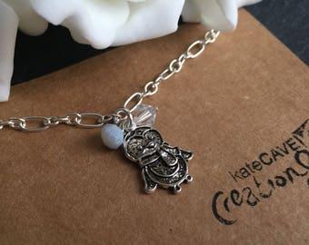 Penguin bracelet, Christmas penguin gift, festive jewellery, Stocking Filler.